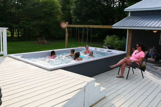 Swim Spas For Sale Swimming Pool Spa Made In The Usa
