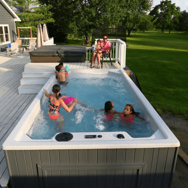 Swim Spa By Royal Spa Swimming Pool And Spa For Family Fun All Year Long